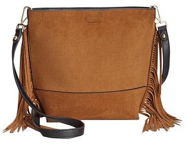 Calvin Klein Dámska hnedá crossbody kabelka Reversible Fringe Crossbody d69a71b27ef