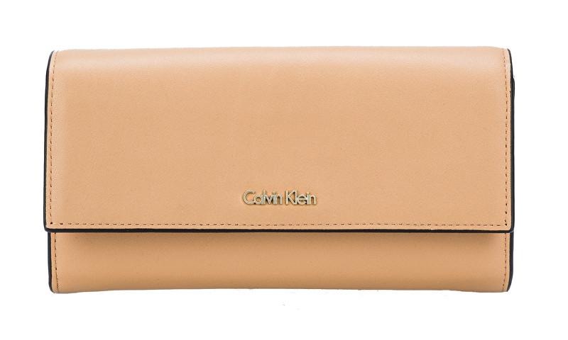 Calvin Klein Dámska peňaženka Compact Large Trifold Toast