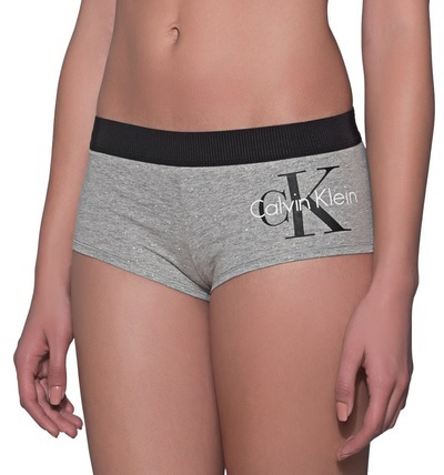 Calvin Klein Dámske nohavičky boyshort QF1646E-IL7 Grey S