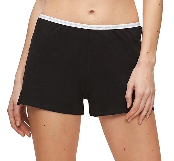 Calvin Klein Dámske pyžamové kraťasy Sleep Short QS6490E-001 Black XL