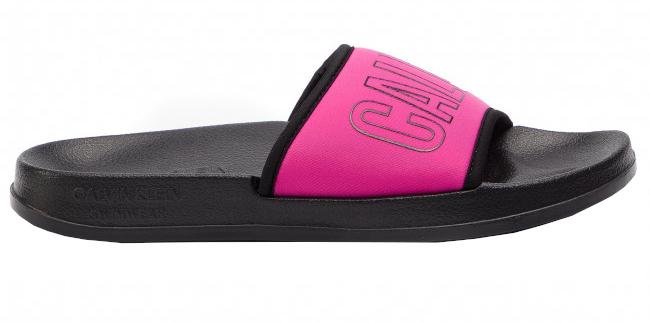Calvin Klein Dámske šľapky Slide KW0KW00728-507 Beetroot Purple 35-36