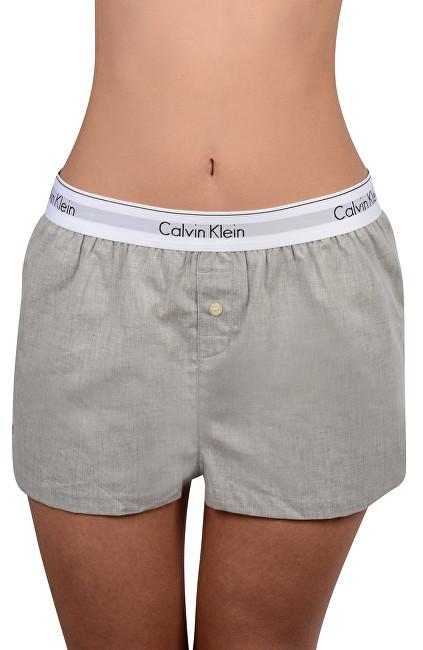 Calvin Klein Dámske pyžamo - kraťasy Woven Boxer Short Grey Heather QS6080E  L 0bcb85ff1a