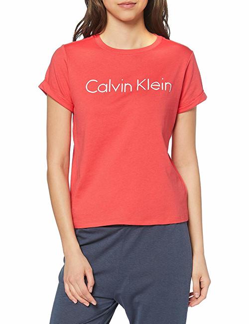 680235b32 Calvin Klein Dámske tričko S-S Crew Neck Cotton Cord Top QS5789E-LFX Fire  Lily XS