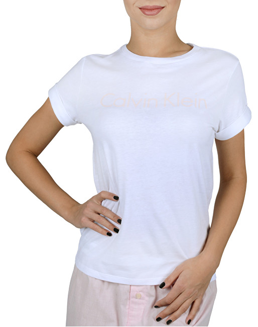 da3735f94 Calvin Klein Dámske tričko S-S Crew Neck White w-Nymphs thigh logo QS5789E  -YN3