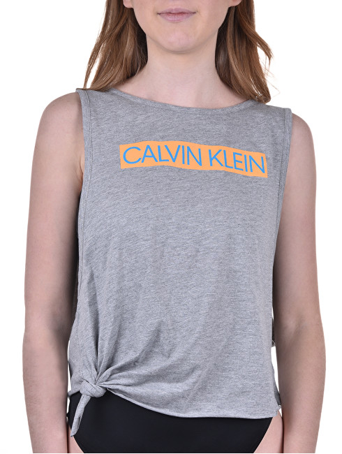 8c1cddb9f Calvin Klein Dámske tričko Side Knot Tank KW0KW00698-033 Grey Heather S e- shop >>