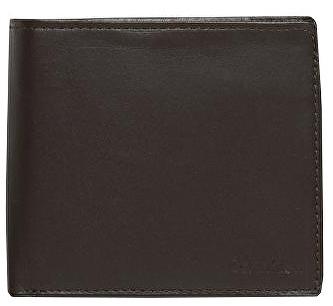Calvin Klein Pánska čierna peňaženka Leather Coin Pocket Bifold Wallet