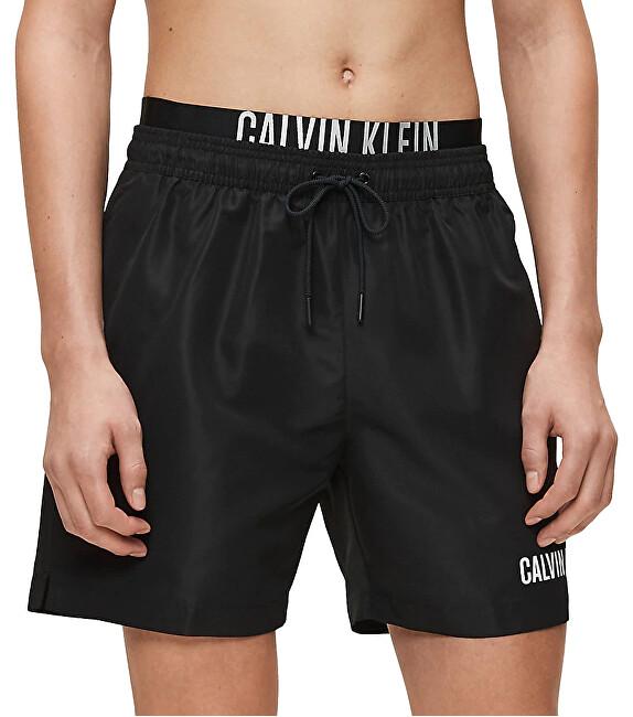 Calvin Klein Pánske kúpacie kraťasy Medium Double Wb KM0KM00450-BEH PVH Black M