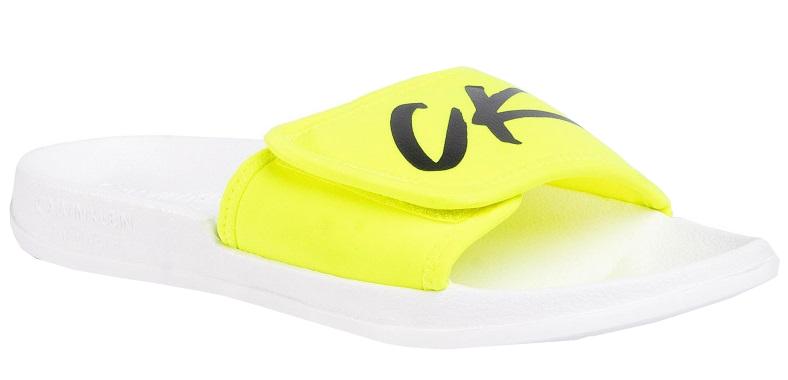 Calvin Klein Pánske šľapky Velcro Slide KM0KM00499 -YCD 45-46