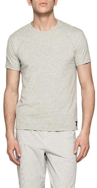 8bcd1d51f Calvin Klein Pánske tričko CK Sleep Cotton S-S Crew Neck NB1164E-080 Grey  Heather L