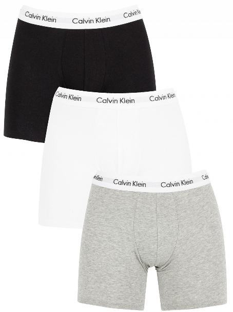 Calvin Klein 3 PACK - pánske boxerky NB1770A -MP1 Black, White, Grey Heather M
