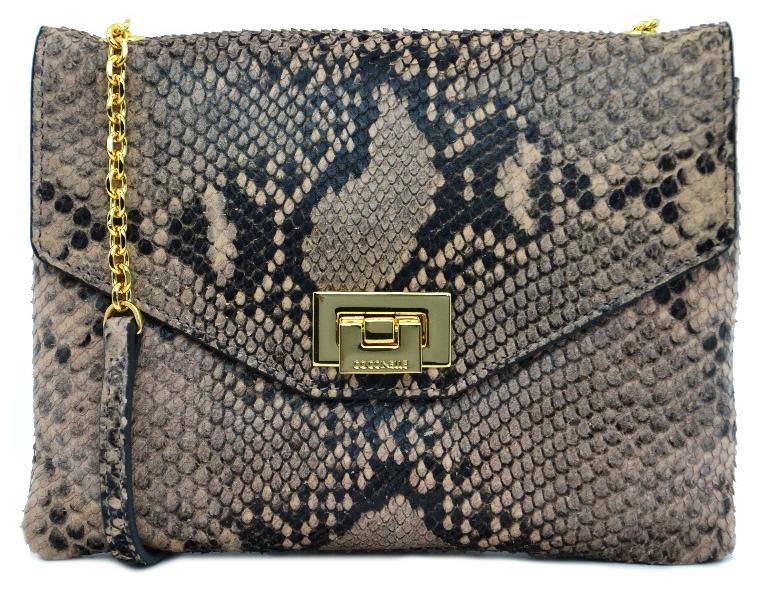 Coccinelle Luxusná kožená kabelka Python Mini