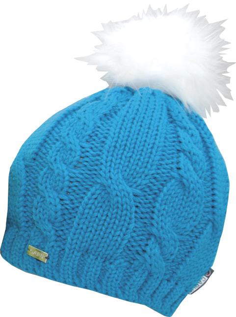 CAPU Zimní čepice s bambulí Blue 18413-H