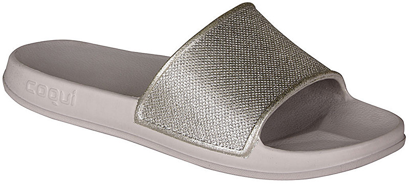 Coqui Dámske šľapky Tora Khaki Grey/Silver Glitter 7082-301-4600 40