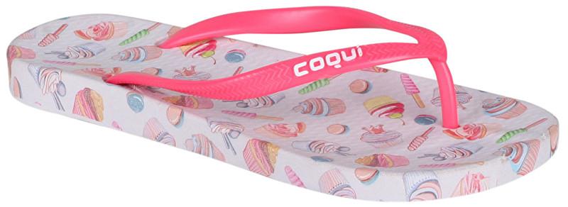 Coqui Șlapi flip-flop de damăKaja Printed Cupcake Pink 1327-213-3242 37