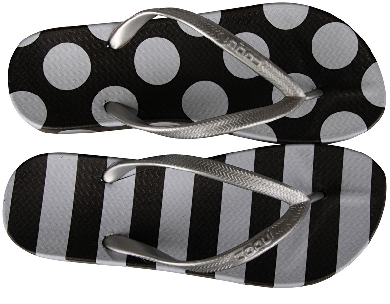 Coqui Flip-flops Kaja Printed Black/White Dots and Stripes 1327-215-2299 42