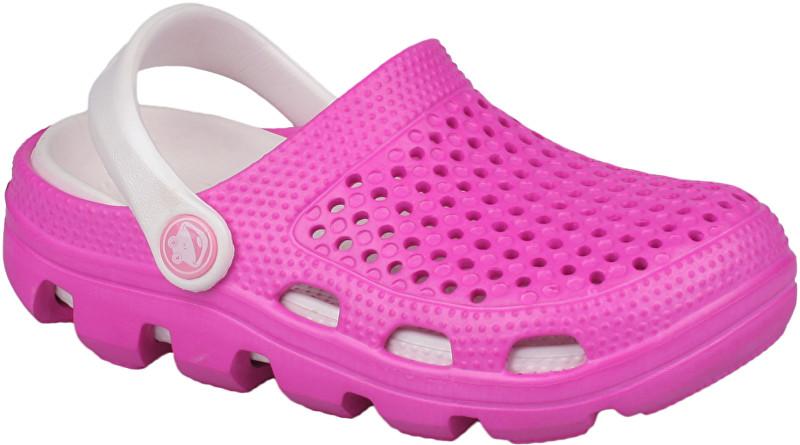 Coqui Dětské pantofle Bugy 6101 Fuchsia/Pearl 100172 28-29