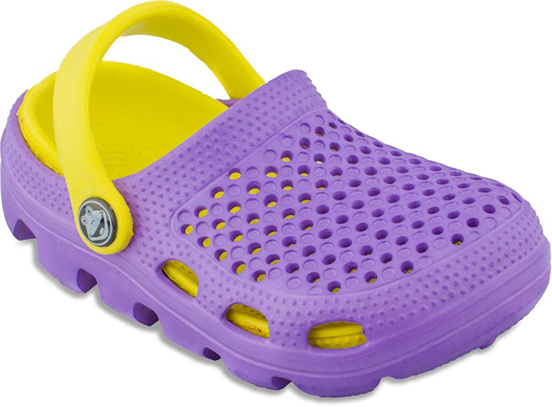 Coqui Dětské pantofle Bugy 6101 Lila Yellow 100175 26-27 9c4e69ddb2
