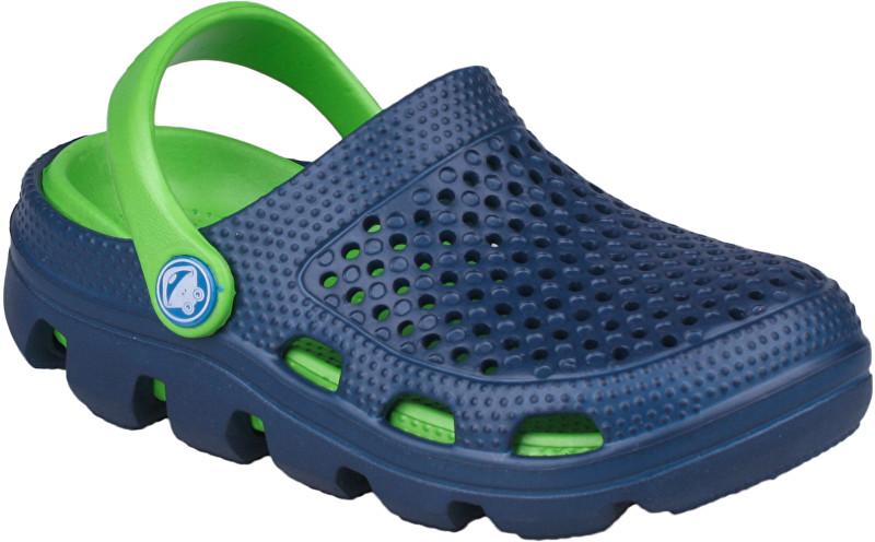 Coqui Dětské pantofle Bugy 6101 Navy/Lime 100180 26-27