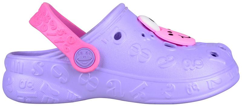 b1e80c379fdc2 Coqui Detské papuče Hoppa Lt. Lila/Dk. Pink 9381-100-0200