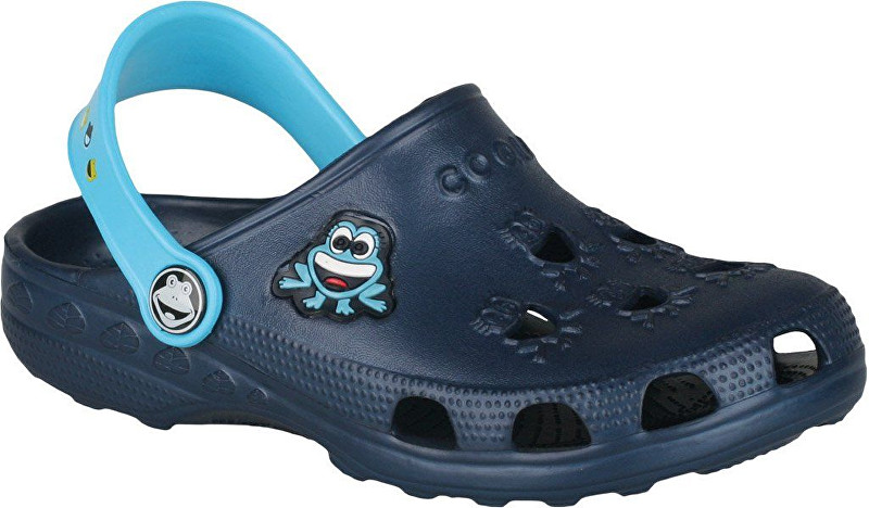 06ed655fe07c Coqui Detské šľapky Little Frog Navy-Blue 8701-100-2118 23-24
