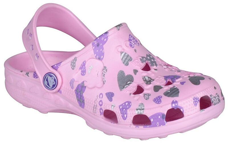 Coqui Detské šľapky Little Frog 8714 Pink 100339 24-25 1852eb61a5f