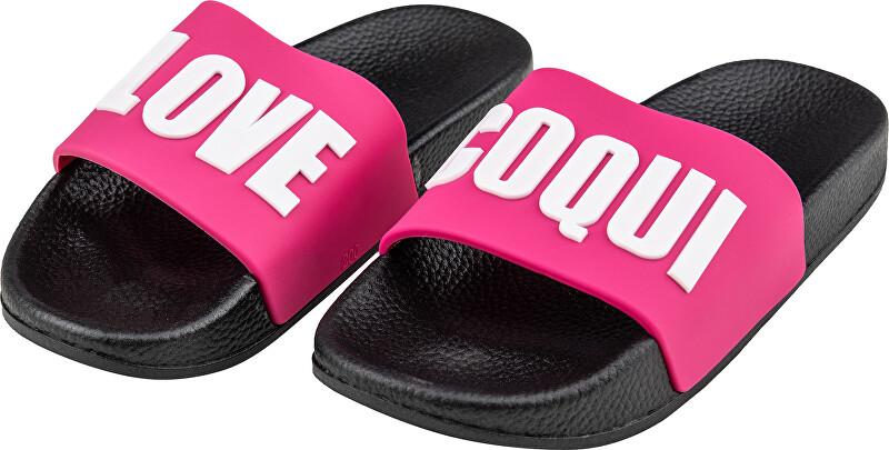 Coqui Detské papuče Ruki Black / Fuchsia Love 6383-512-2205 28-29