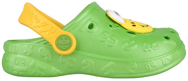 Coqui Dětské pantofle Hoppa 9381 Lime 102207 26-27 0d6cbda531