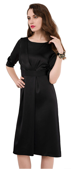 Closet London Dámské šaty Closet Aline Pleated Dress Black XXL