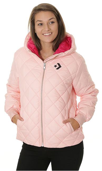 Converse Jacheta pentru femei Quilted Poly Puffer Storm Pink M