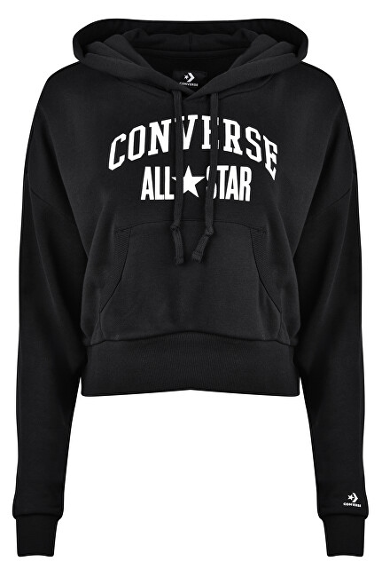 Converse Dámska mikina Converse All Star Pullover Hoodie Converse Black S