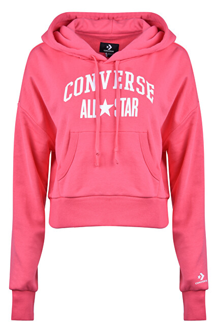 Converse Dámska mikina Converse All Star Pullover Hoodie Lt Strawberry Jam XS