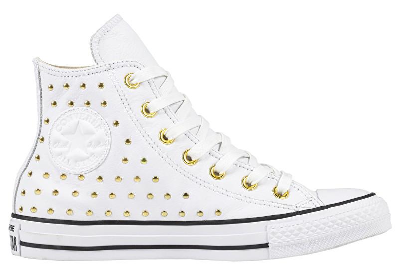 012eef5130 Converse Dámske členkové tenisky Chuck Taylor All Star White White Gold 37