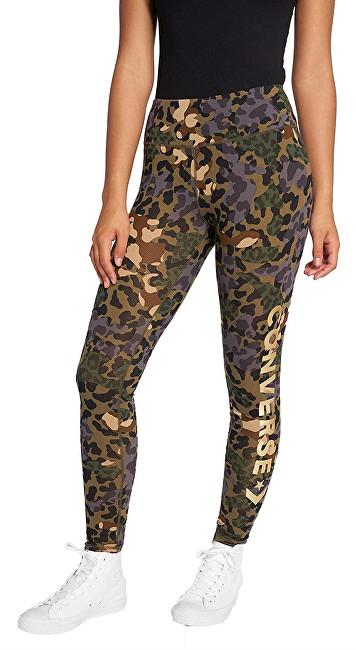 42921879f3f77 Converse Dámske legíny Animal Camo Metallic Wordmark Legging Dusky Green  Multi XS