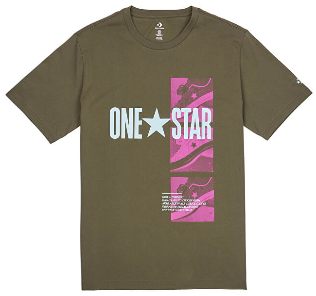 Converse Pánske tričko Converse One Star Photo Short Sleeve Tee Field Surplus M