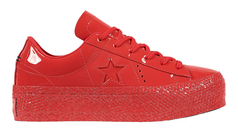 Converse Tenisky One Star Platform Cherry Red-Cherry Red-Black 37