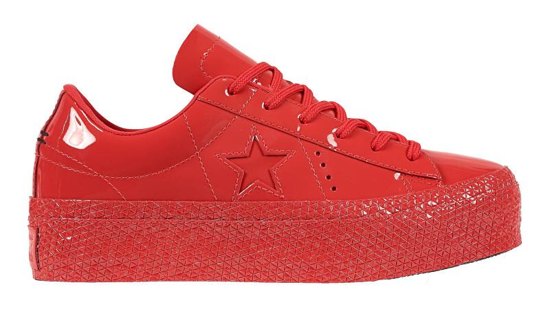Converse Adidași One Star Platform Cherry Red/Cherry Red/Black 39