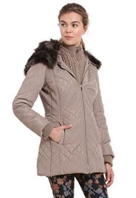 Desigual Jacheta de damă pentru femei Padded Maca Beig Fresh 18WWEW30 1025 40