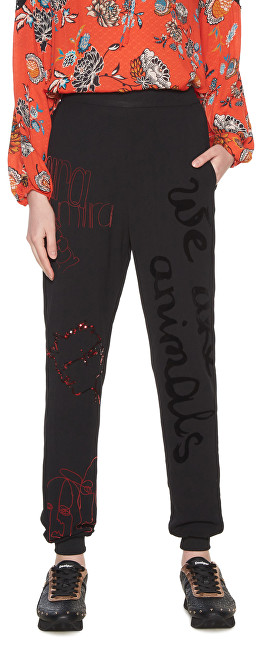 Desigual PantaloniPant Dawson Negro 18WWPW05 2000 pentru femei L
