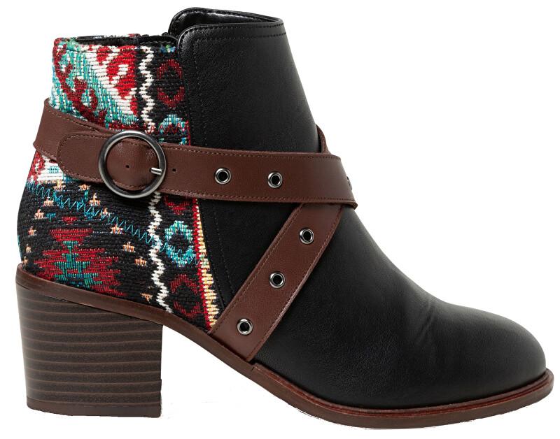 Desigual Dámske členkové topánky Shoes Alaska Tapestry Negro 19WSAP04 2000 36