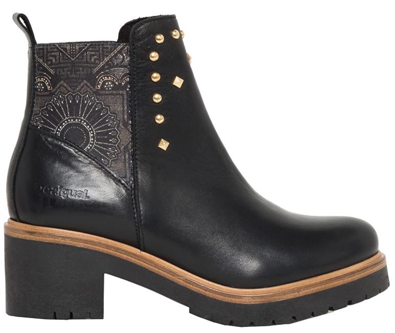 Desigual Dámske členkové topánky Shoes Biker Blackstuds Negro 18WSAL08 2000 39