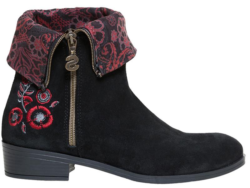 Desigual Dámske členkové topánky Shoes Neoboho Foulard Negro 18WSAL12 2000 40