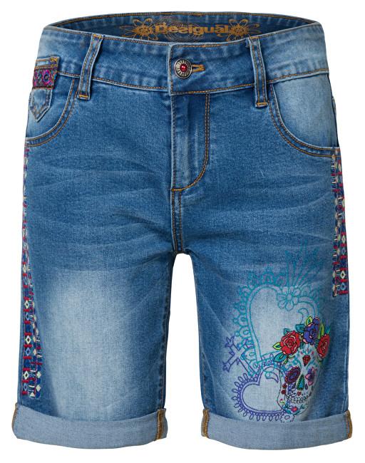 Desigual Pantaloni scurți pentru femei Denim Catrina Denim Medium Light 19SWDD12 5160 26