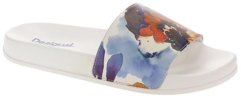 4cb164cfe542 Desigual Dámske šľapky Sandal Camoflower Blanco 19SUBK01 1000 36