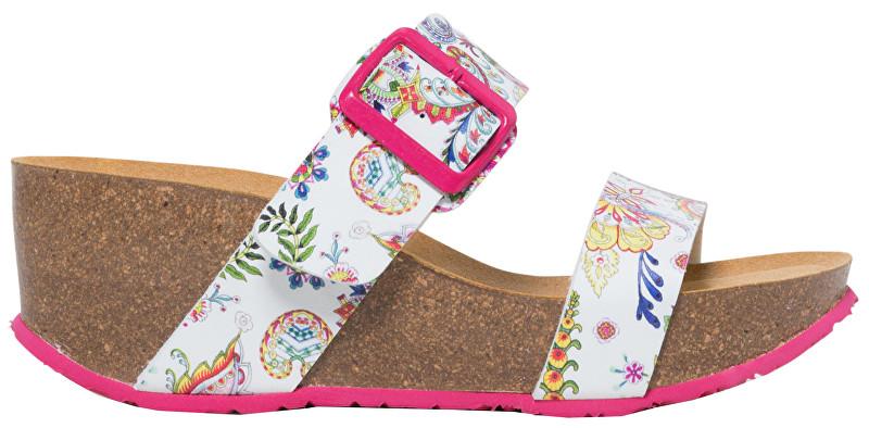 Desigual Dámske šľapky Shoes Bio8 Galactic Blanco 19SSHP12 1000 40