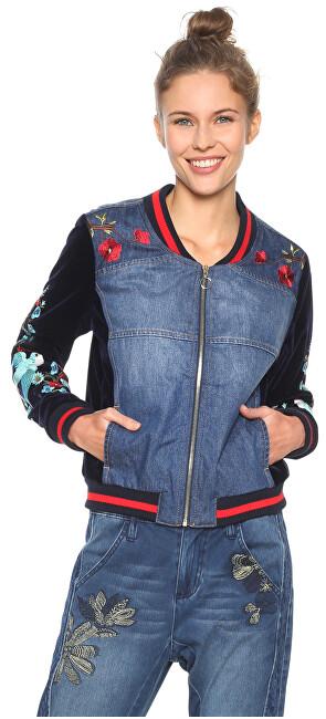 Desigual Jachetă pentru femei Chaq Tottori Denim Patch 18WWED30 5183 36