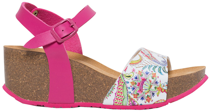 Desigual Pantofi pentru sandale Shoes Bio7 Galactic Fuxia Magico 19SSHP11 3062 37