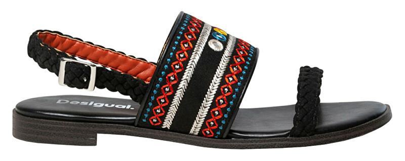 Desigual Dámske sandále Shoes Mumbai Negro 20SSSA03 2000 36
