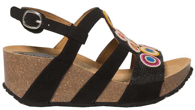 Desigual Pantofi pentru femei Shoes Odisea Flower Beads Negro 19SSHF02 2000 37