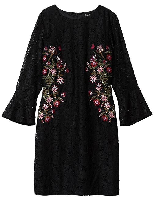 Desigual Dámske šaty Vest Bergen Negro 19WWVW15 2000 44
