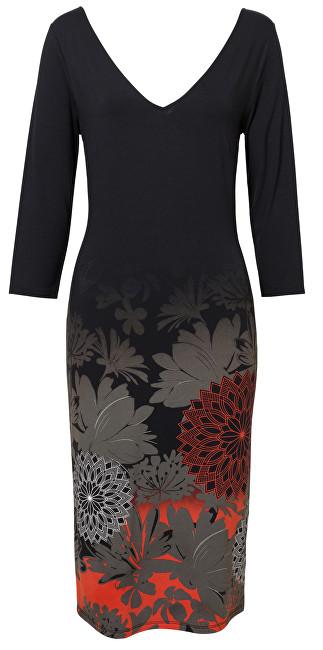 Desigual Dámske šaty Vest Florencia Negro 19SWVK89 2000 XS